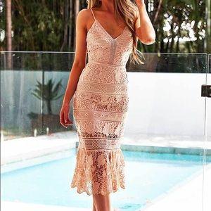 Missrunway Boutique Estelle Crocket Midi Dress
